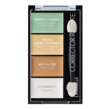 Dermacol Make-Up 4-цветная палитра корректоров и хайлайтера Corrector Palette